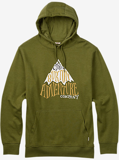 Burton Adventure Co Recycled Pullover Hoodie shown in Olive Branch Heather