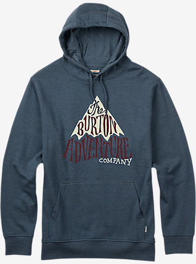 Burton Adventure Co Recycled Pullover Hoodie shown in Blue Mirage Heather