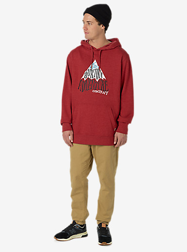 Burton Adventure Co Recycled Pullover Hoodie shown in Brick Red Heather