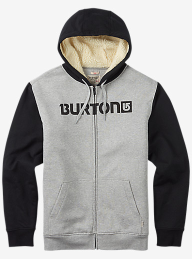 Burton Fireside Full-Zip Hoodie shown in Gray Heather