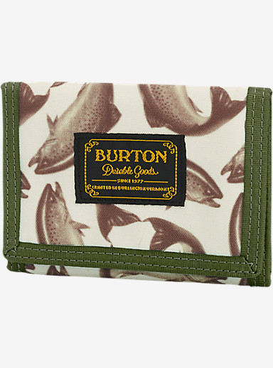 Burton Slasher Wallet shown in Haulin Trout
