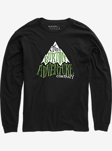 Burton Boys' Adventure Co Long Sleeve T Shirt shown in True Black