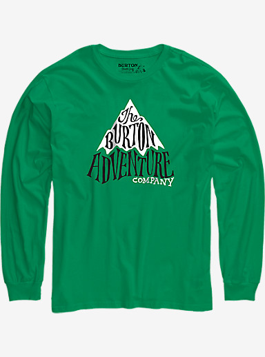 Burton Boys' Adventure Co Long Sleeve T Shirt shown in Kelly Green