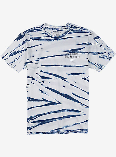 Burton The Original Slim Fit Short Sleeve T Shirt shown in Stout White Shibori