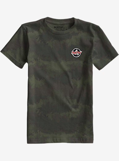 Burton Scout Slim Fit Short Sleeve Pocket T Shirt shown in Oil Camo