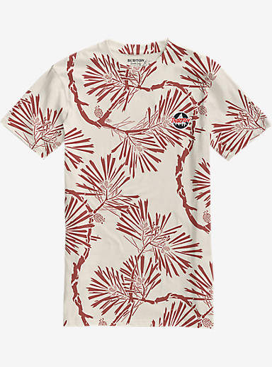Burton Scout Slim Fit Short Sleeve Pocket T Shirt shown in Tropic Pinetree Floral