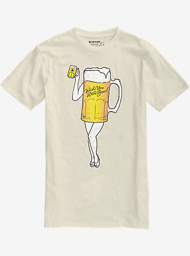 Burton Wish You Were Beer Slim Fit Short Sleeve T Shirt shown in Vanilla