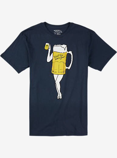Burton Wish You Were Beer Slim Fit Short Sleeve T Shirt shown in Indigo