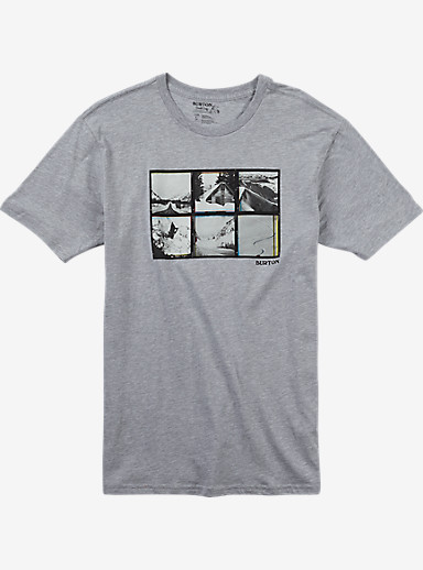 Burton Long Weekend Slim Fit Short Sleeve T Shirt shown in Gray Heather