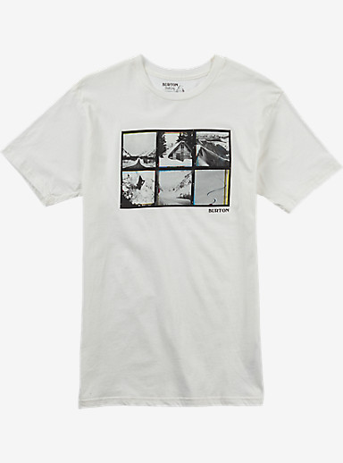 Burton Long Weekend Slim Fit Short Sleeve T Shirt shown in Stout White