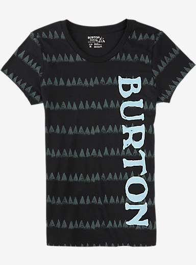 Burton Allagash Short Sleeve T Shirt shown in True Black