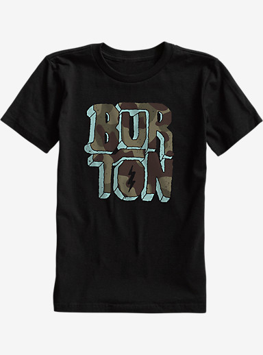 Burton Boys' Rock and Roll Short Sleeve T Shirt shown in True Black