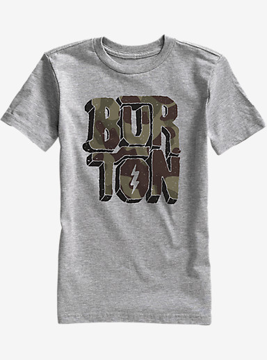 Burton Boys' Rock and Roll Short Sleeve T Shirt shown in Gray Heather
