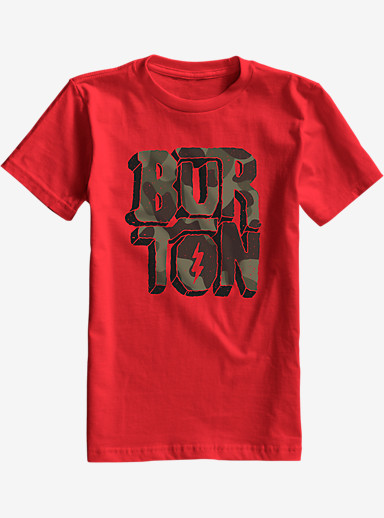 Burton Boys' Rock and Roll Short Sleeve T Shirt shown in Fiery Red