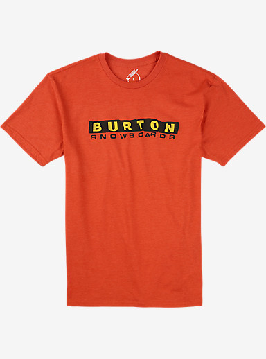 Burton Carson Recycled Slim Fit T Shirt shown in Fiery Red Heather