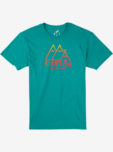 Burton Foothills Slim Fit Short Sleeve T Shirt shown in Teal Heather
