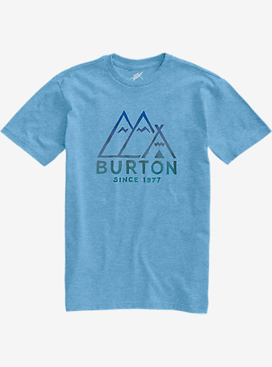 Burton Foothills Slim Fit Short Sleeve T Shirt shown in Light Blue Heather