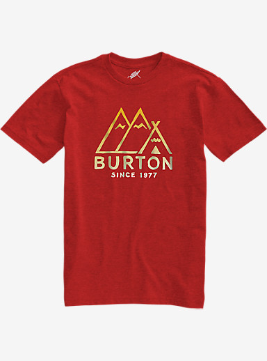 Burton Foothills Slim Fit Short Sleeve T Shirt shown in Fiery Red Heather