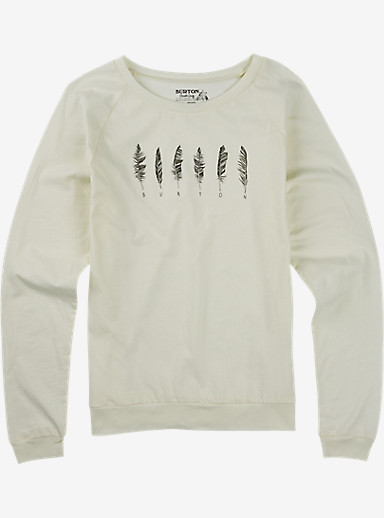 Burton Wilson Slouchy Long Sleeve T Shirt shown in Vanilla