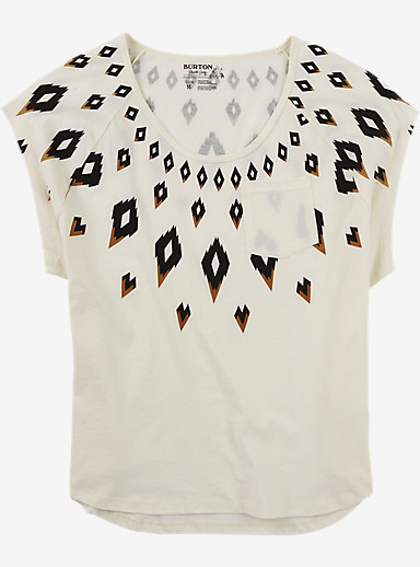 Burton Fairisle Short Sleeve T Shirt shown in Vanilla