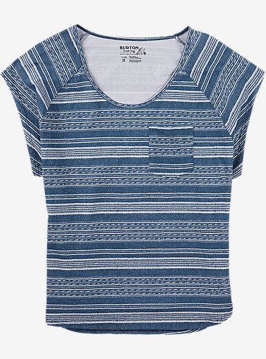 Burton Sandalwood Short Sleeve T Shirt shown in Indigo Yarny