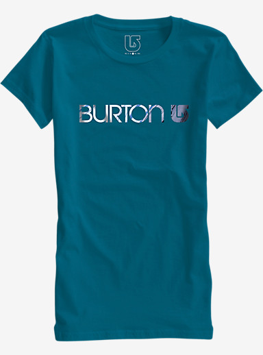 Burton Her Logo Short Sleeve T Shirt shown in Pacifico