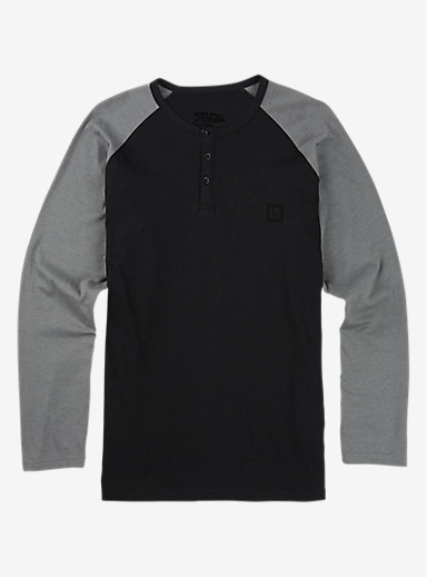 Burton Process Henley Shirt shown in True Black Heather