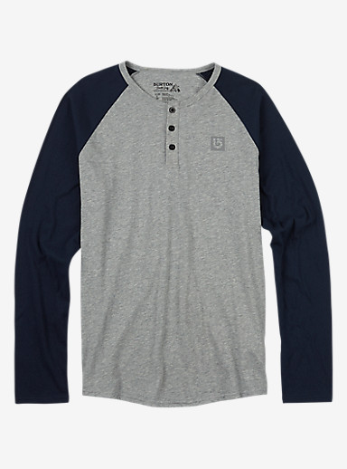 Burton Process Henley Shirt shown in Gray Heather