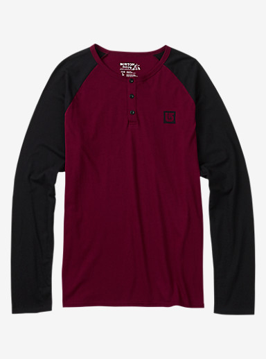 Burton Process Henley Shirt shown in Wino