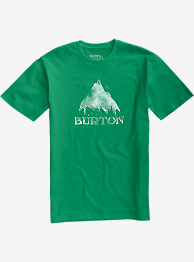 Burton Stamped Mountain Short Sleeve T Shirt shown in Kelly Green