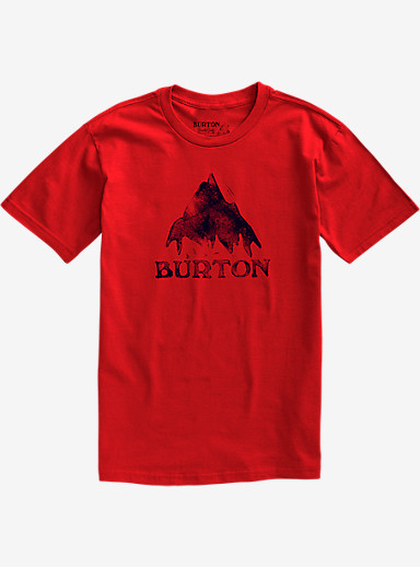 Burton Stamped Mountain Short Sleeve T Shirt shown in Fiery Red