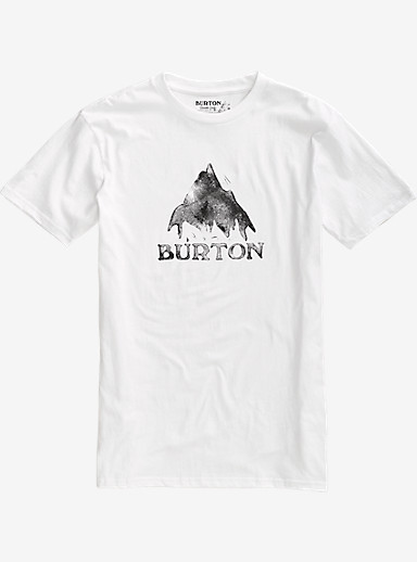 Burton Stamped Mountain Short Sleeve T Shirt shown in Stout White