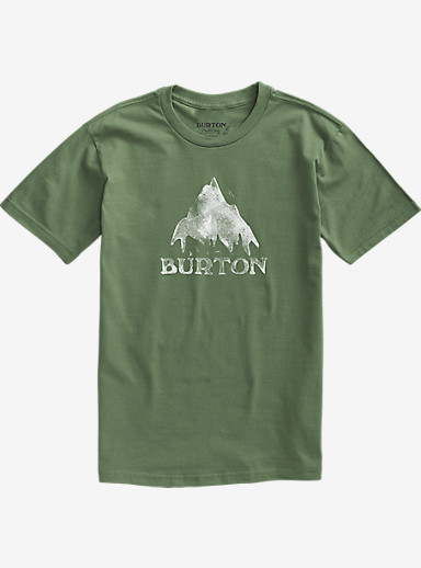 Burton Stamped Mountain Short Sleeve T Shirt shown in Military Green