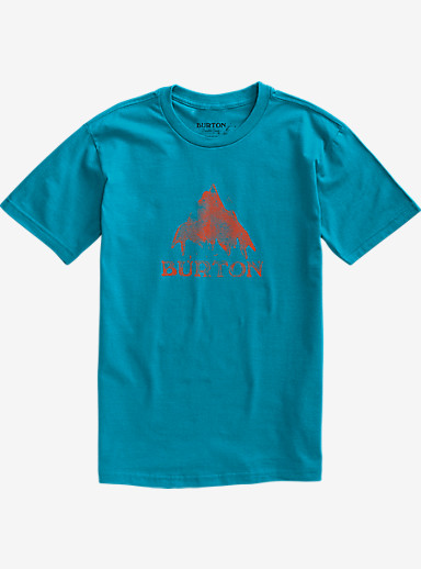 Burton Stamped Mountain Short Sleeve T Shirt shown in Turquoise