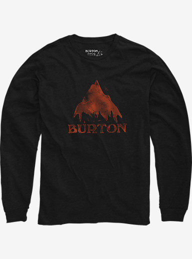 Burton Stamped Mountain Long Sleeve T Shirt shown in True Black Heather