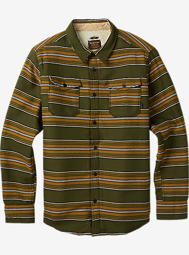 Burton Cole Sherpa Woven shown in Olive Night Kingdom Stripe