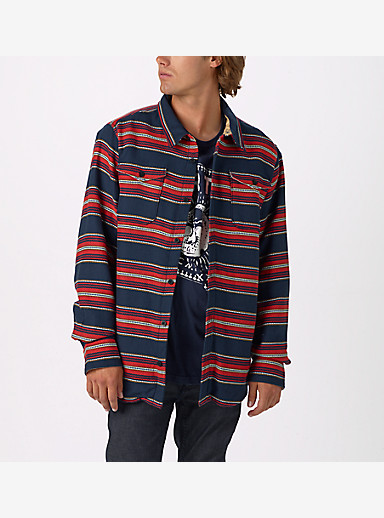Burton Cole Sherpa Woven shown in Dress Blues Kingdom Stripe