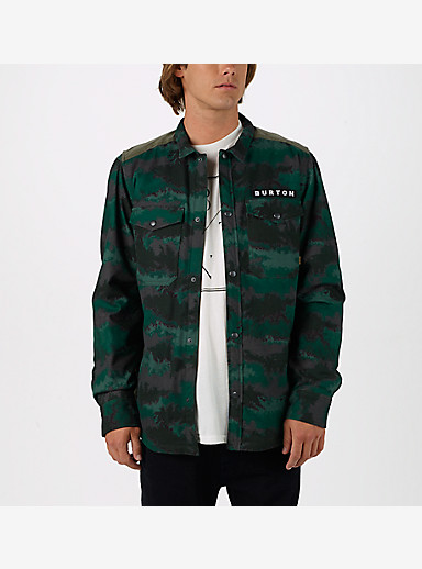 Burton Vantage Long Sleeve Shirt shown in Oil Camo