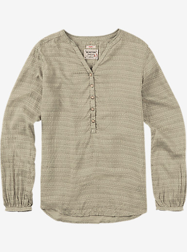 Burton Waterbury Woven Shirt shown in Canvas Hatch Print