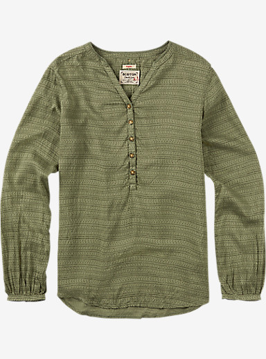Burton Waterbury Woven Shirt shown in Vetiver Hatch Print
