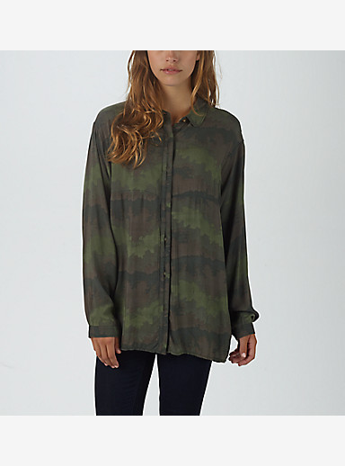 Burton Cadotte Woven Shirt shown in Oil Camo