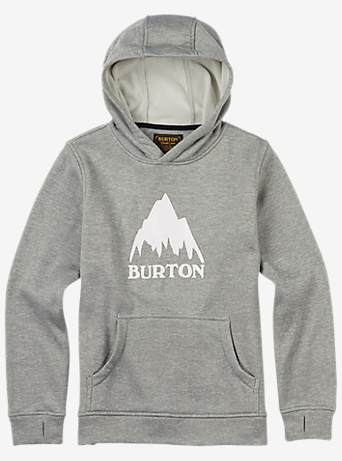 Burton Boys' Oak Bonded Pullover Hoodie shown in Monument Heather