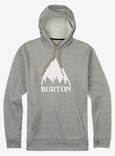 Burton Oak Pullover Hoodie shown in Monument Heather