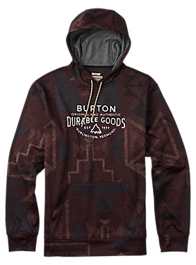 Burton Oak Pullover Hoodie shown in Canyon Print