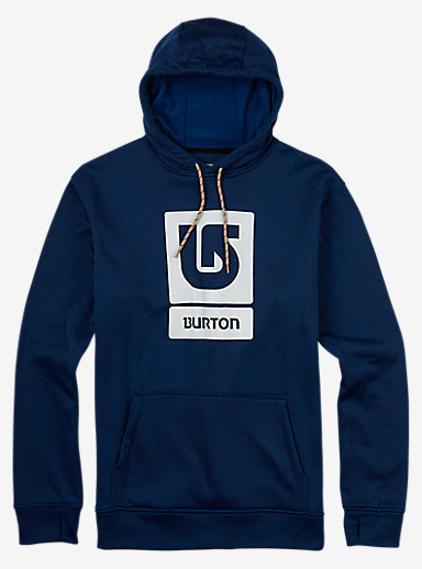 Burton Oak Pullover Hoodie shown in True Blue Heather