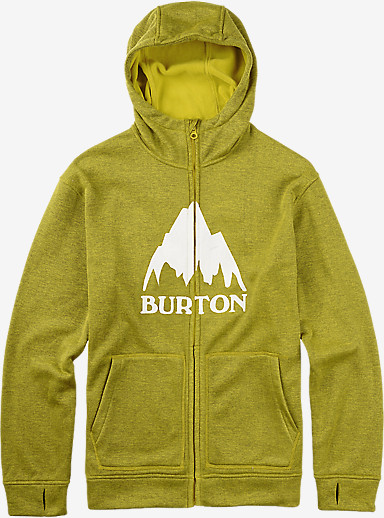 Burton Oak Full-Zip Hoodie shown in Eclipse / Toxin Heather