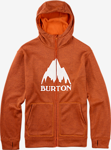 Burton Oak Full-Zip Hoodie shown in Eclipse / Firecracker Heather