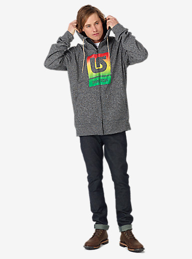 Burton Oak Full-Zip Hoodie shown in True Black Heather