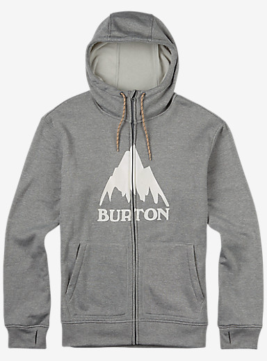 Burton Oak Full-Zip Hoodie shown in Monument Heather