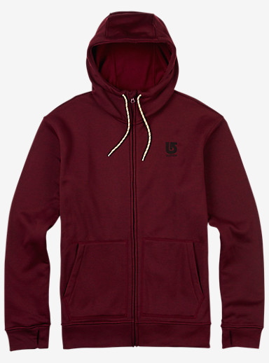 Burton Oak Full-Zip Hoodie shown in Wino Heather